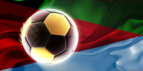 Flag of Eritrea wavy soccer