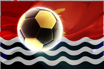 Flag of Kiribati wavy soccer