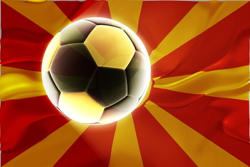 Flag of Macedonia wavy soccer