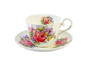 Decorated china cup