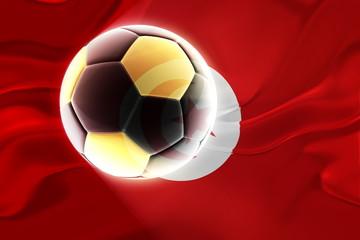 Flag of Tunisia wavy soccer