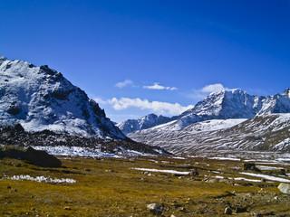 Himalayan valley at 17,000 feet