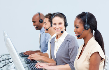 Assertive customer service representatives in a call-center