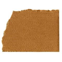 Torn corrugated cardboard
