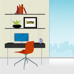 Retro-Modern Home Office