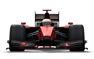 race car - red and black