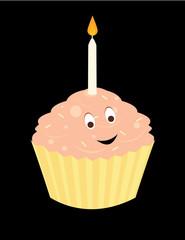 Happy birthday cupcake 2