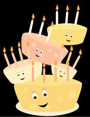 Happy birthday cake stack