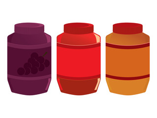 Jelly and peanut butter jars