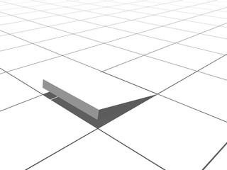 Floor with hole