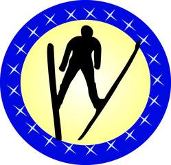 Flying skier