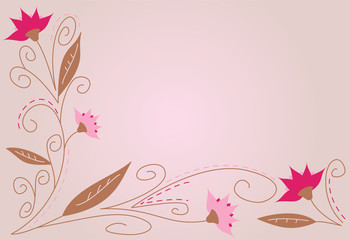 Pretty background featuring flowers in pink, girly colors