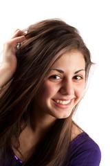 Attractive brunette girl