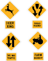 traffic signs vector silhouette