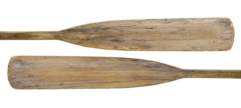 old wooden paddles