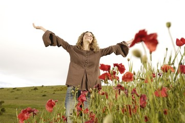 donna,gioia e natura