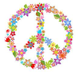 Peace flower symbol