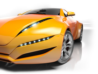 Sports car. My own car design.
