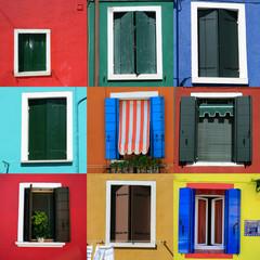 île de Burano face à Venise et ses maisons de pêcheurs
