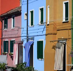 Maisons colorées de Burano face  à Venise