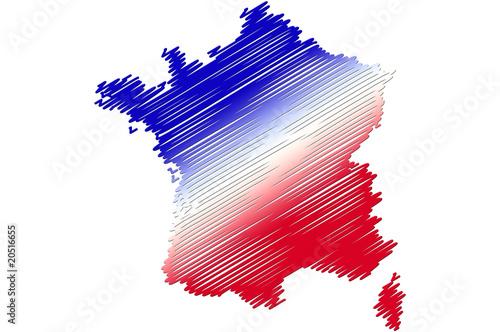 """""""Carte de France dessin"""" photo libre de droits sur la ..."""