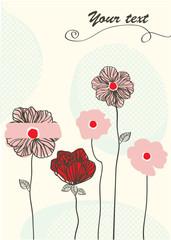 nice flower card for any kind of celebration