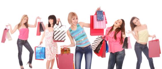 group shopping girls