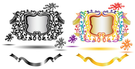 paint glossy banner icon
