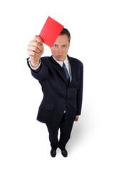 Chef verteilt die rote Karte