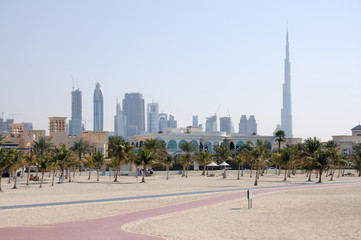Jumeirah Beach Park, and Dubai City Skyline