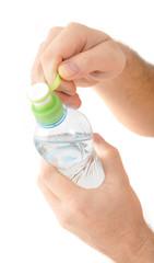 water in plastic bottle