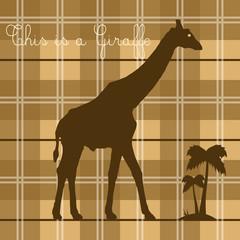 giraffe on cappuccino background
