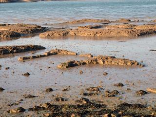 Formation of rocks at coast
