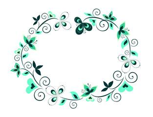 Decorative floral border