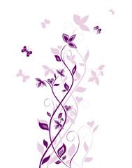 Vintage violet tree
