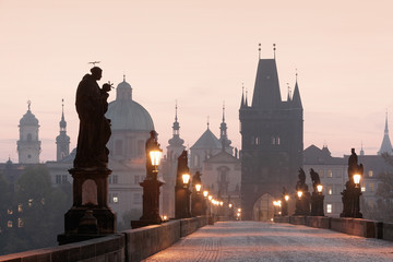 Photo sur cadre textile Prague prague charles bridge