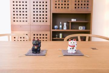 ダイニングキッチンと招き猫