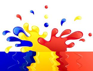 colored liquid splash