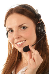 Portrait of call center operator