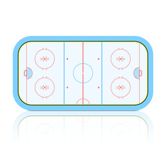 Hockey Rink. Vector.
