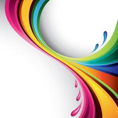 Colorful splash design