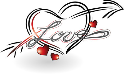 Partnerschaft, Ehe, Herz, Pfeil, Liebe, love