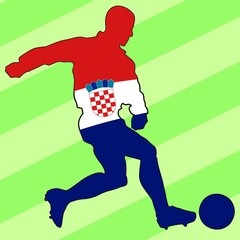 football colors of Croatia