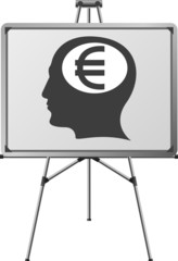 euro brain of a man. vector illustration