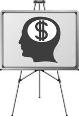dollar brain of a man. vector illustration