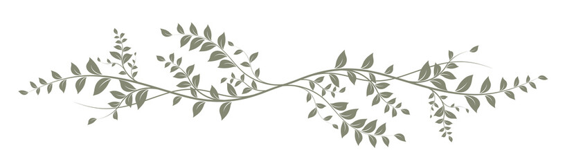 green decorative element on white background - decoration