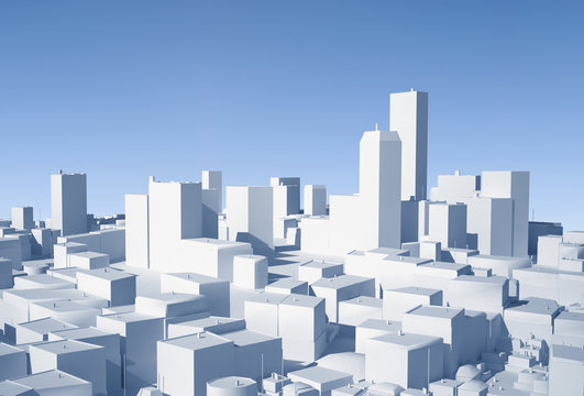 Conceptual image of 3D city