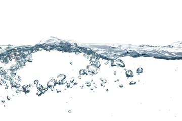kristallklares wasser mit luftbläschen