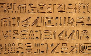 Hieroglyphics on a wall