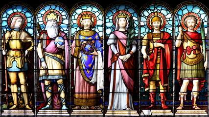 Photo sur Plexiglas Vitrail Les Saints au temps de Charlemagne